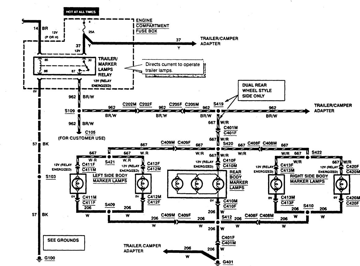 Ford F53 Wiring Library 1990 Diagram Diagrams Exterior Lighting Part 2