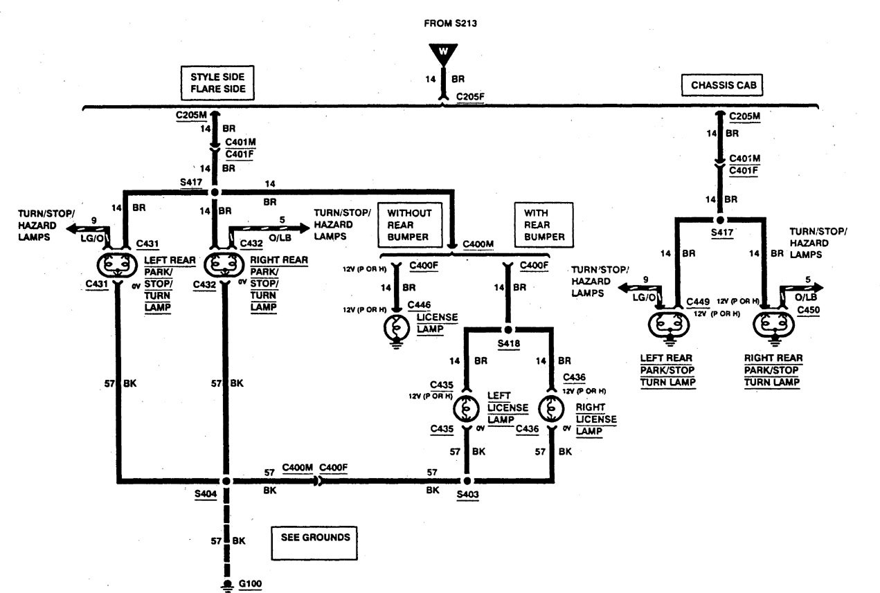 Ford F53 1997 Wiring Diagrams Exterior Lighting Carknowledge Info
