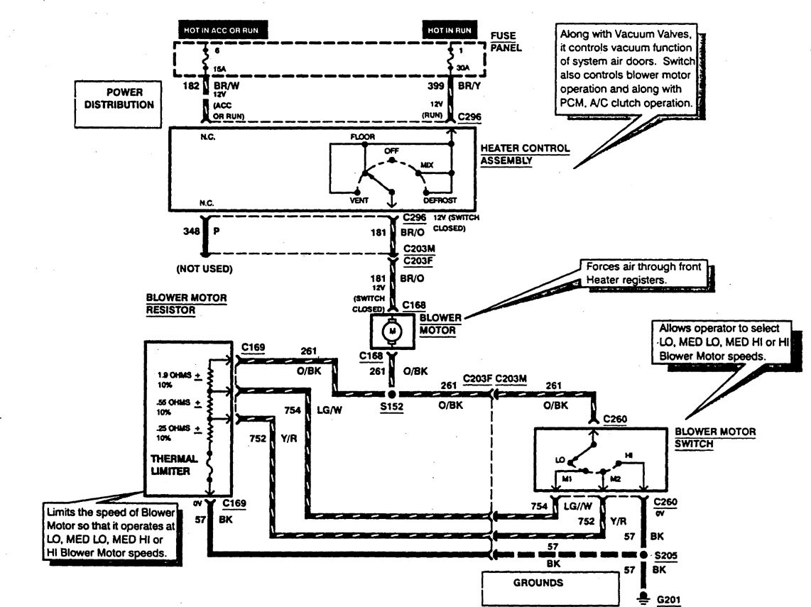 Ford F53 1997 Wiring Diagrams Heater Carknowledge