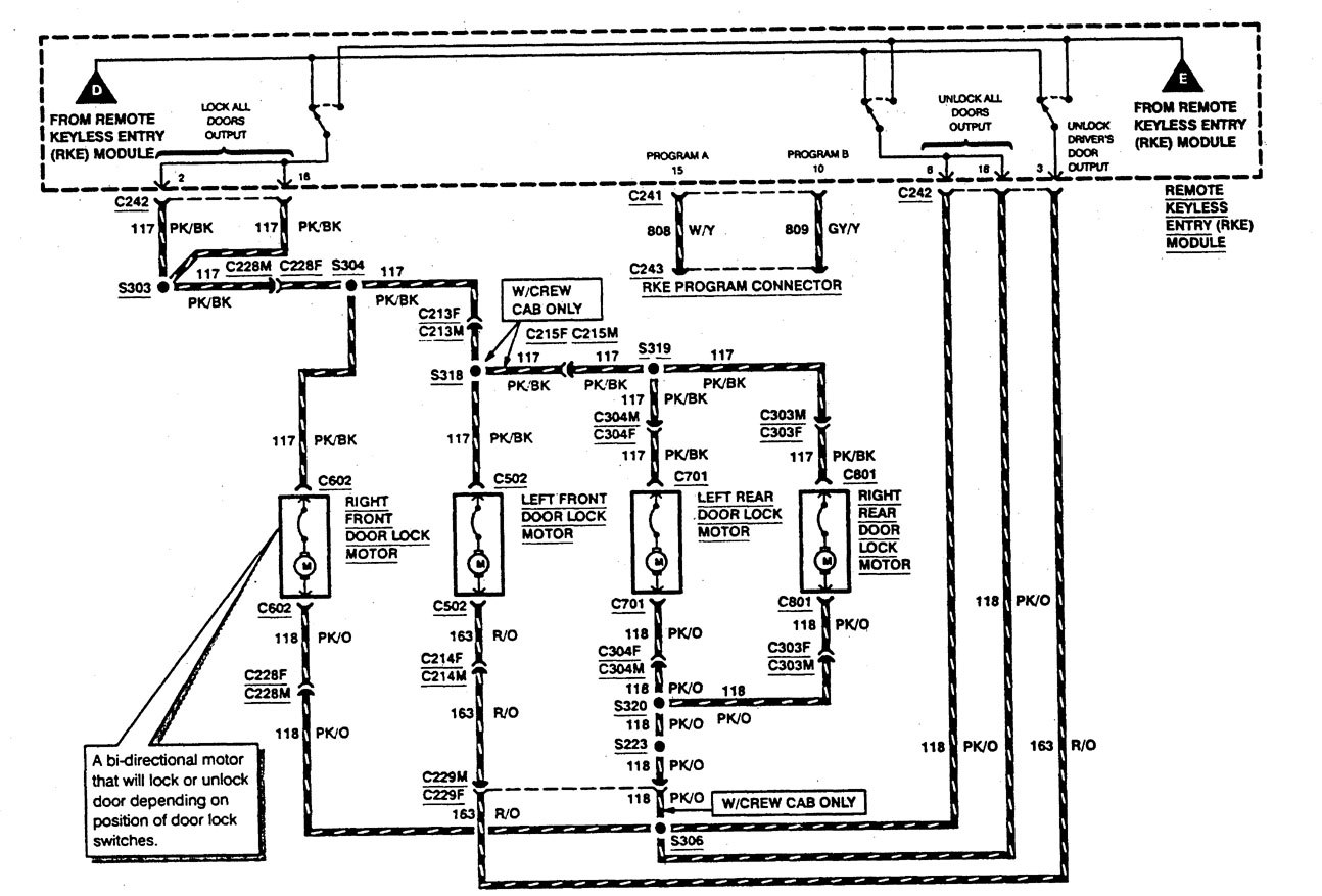 Ford F53 1997 wiring diagrams keyless entry