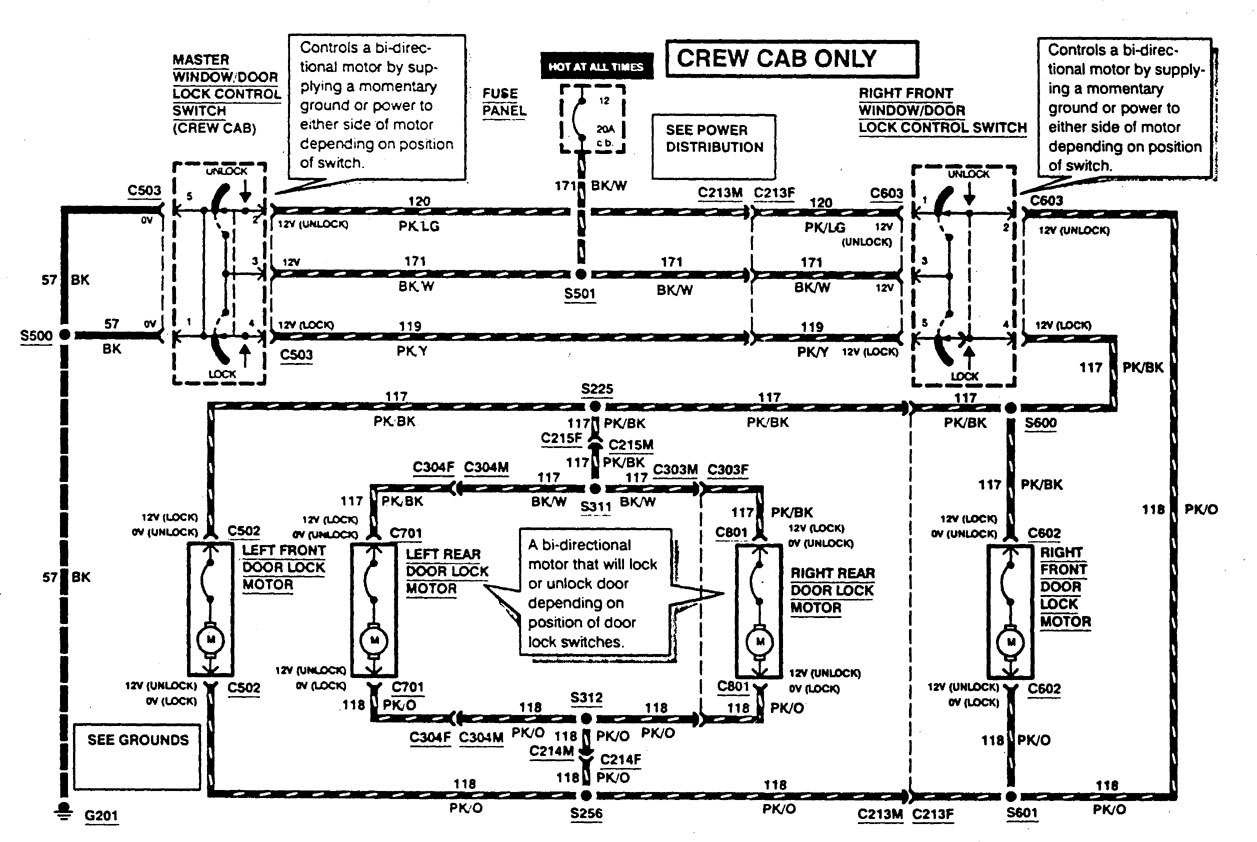 ford f53  1997  - wiring diagrams - power locks