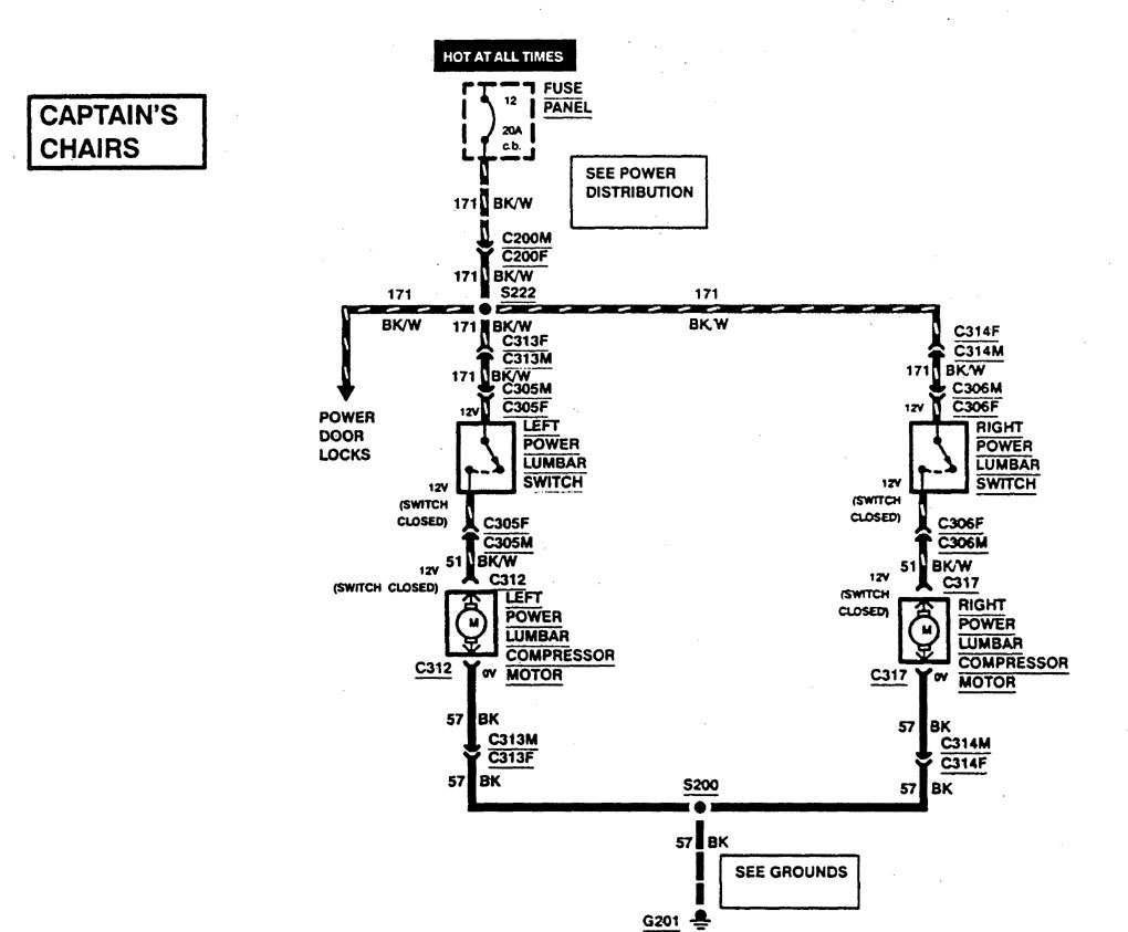 Ford F53 1997 Wiring Diagrams Power Lumbar Carknowledge Diagram Part 1