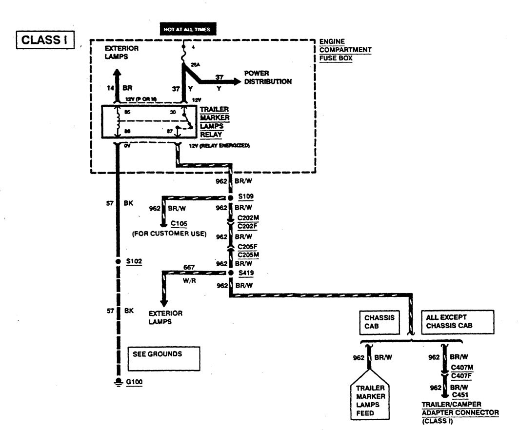 ford f53  1997  - wiring diagrams  camper adapter