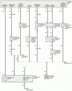 Acura RL - wiring diagram - HVAC controls (part 4)