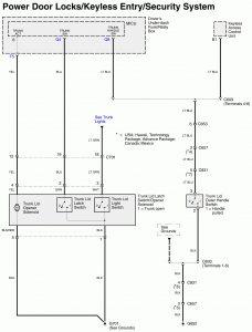 Acura RL - wiring diagram - power locks (part 9)