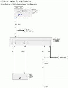 Acura RL - wiring diagram - seat