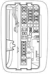 Dodge Durango - wiring diagram - fuse box - interior box