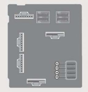 Smart Fortwo - wiring diagram - fuse box -  dashboard (rear side)