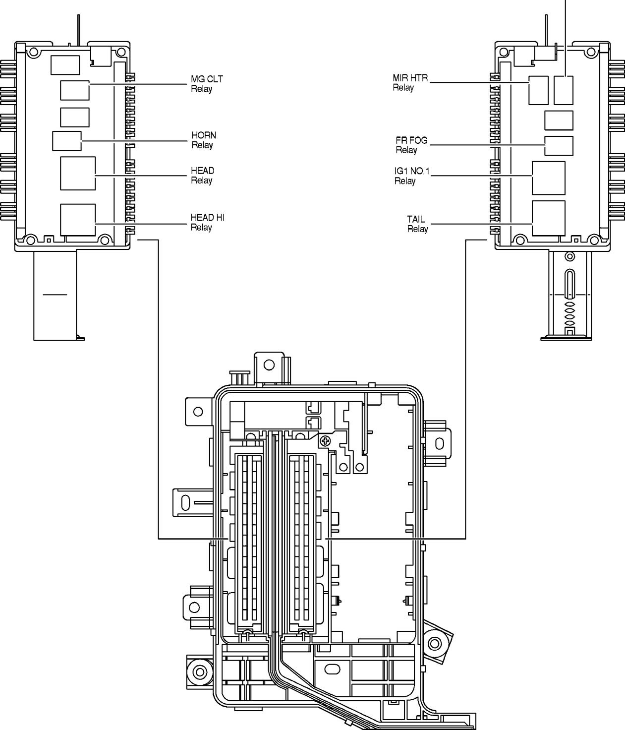 toyota land cruiser  2005  - fuse box diagram