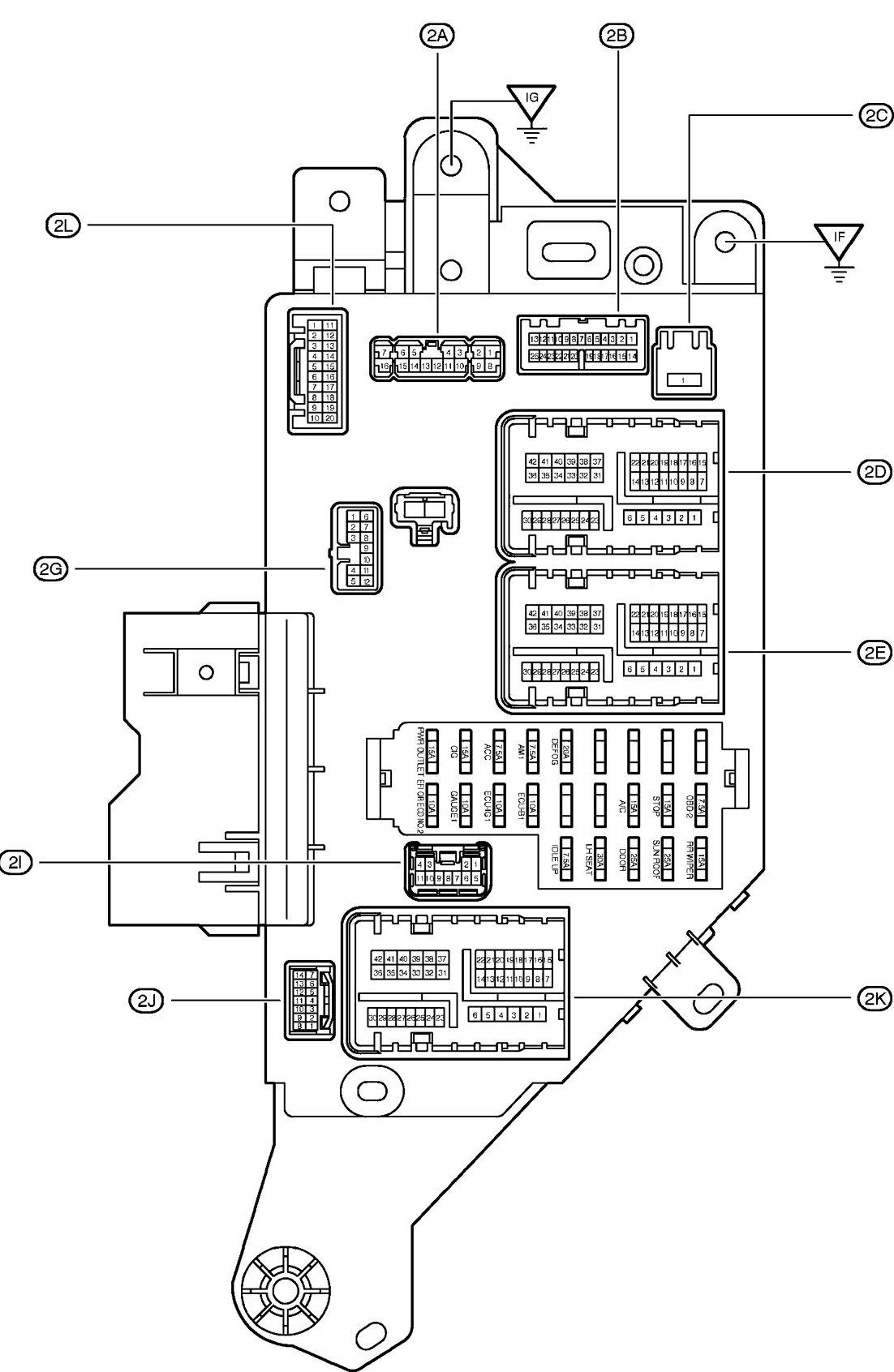 2000 toyota avalon fuse diagram
