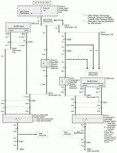 Acura RL - wiring diagram - audible warning system (part 3)