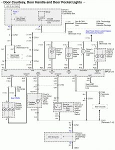Acura RL - wiring diagram - courtesy lamp (part 1)