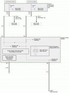 Acura RL - wiring diagram - door ajar warning (part 1)