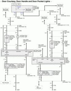 Acura RL - wiring diagram - door lamp  (part 3)