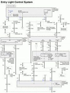 Acura RL - wiring diagram - illuminated entry (part 2)