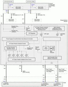 Acura RL - wiring diagram - transmission range switch (part 1)
