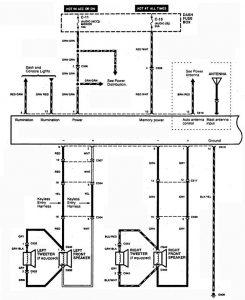 Acura SLX - wiring diagram - audio (part 1)