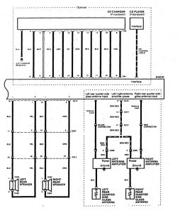 Acura SLX - wiring diagram - audio (part 2)