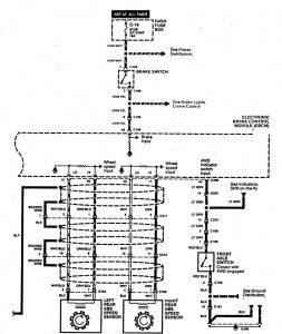 Acura SLX - wiring diagram - brake controls (part 3)