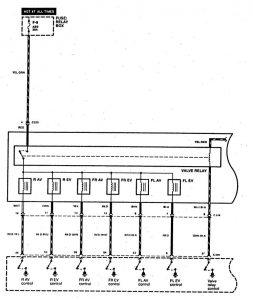 Acura SLX - wiring diagram - brake controls (part 4)