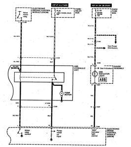 Acura SLX - wiring diagram - brake controls (part 5)