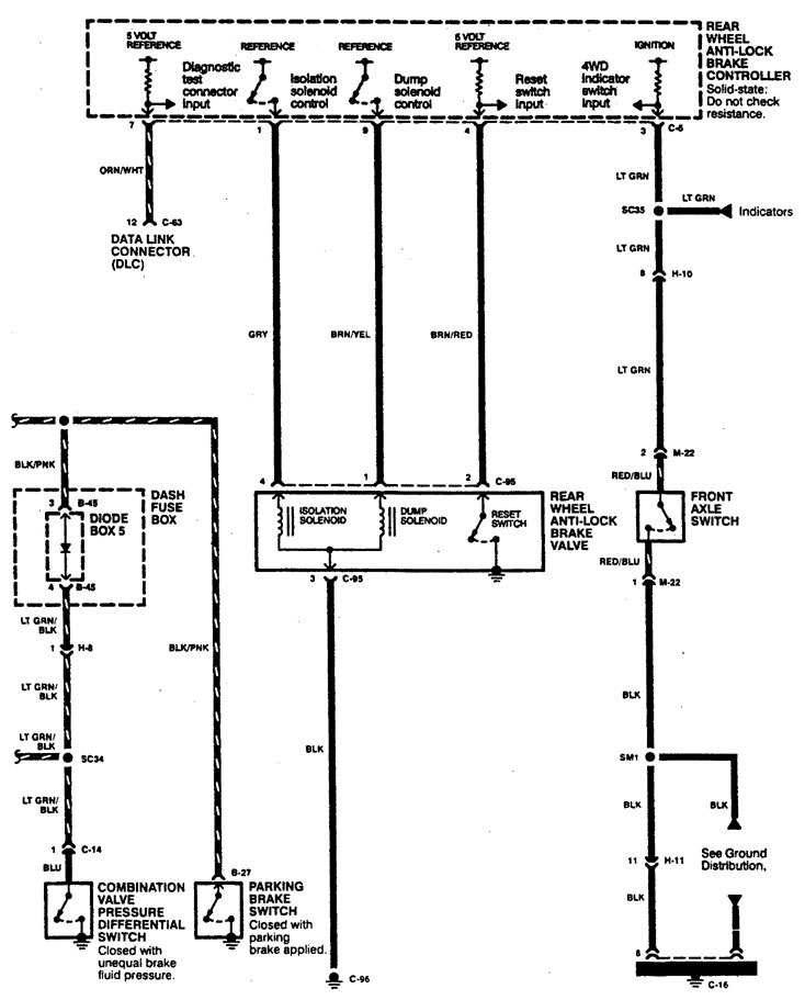 acura slx  1996  - wiring diagrams