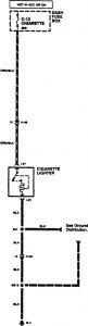 Acura SLX - wiring diagram - cigar lighter