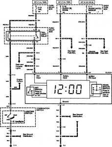 Acura SLX - wiring diagram clock