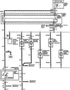Acura SLX - wiring diagram - console lamp (part 1)