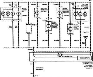 Acura SLX - wiring diagram - console lamp (part 2)