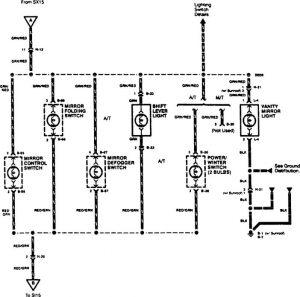 Acura SLX - wiring diagram - console lamp (part 3)