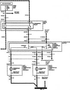 Acura SLX - wiring diagram - cornering lamp (part 2)