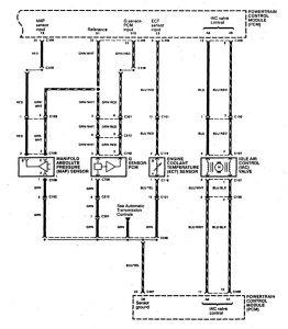 Acura SLX - wiring diagram - fuel controls (part 4)