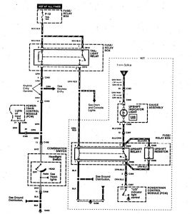 Acura SLX - wiring diagram - fuel controls (part 8)