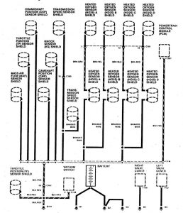 Acura SLX - wiring diagram - ground distribution (part 1)