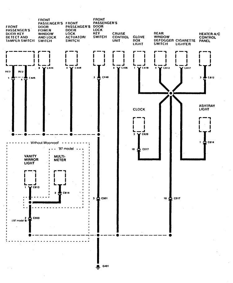 Acura Slx 1997 Wiring Diagrams Ground Distribution