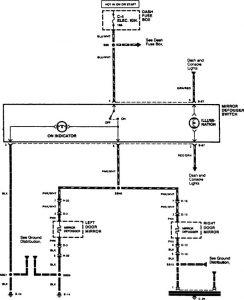 Acura SLX - wiring diagram - heated mirror