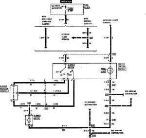 Acura SLX - wiring diagram - heater