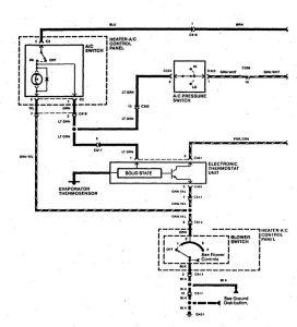 Acura SLX - wiring diagram - HVAC controls (part 1)