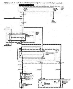 Acura SLX - wiring diagram - HVAC controls (part 2)