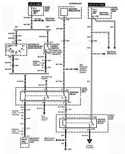 Acura SLX - wiring diagram - HVAC controls (part 3)
