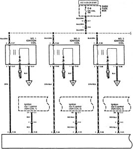 Acura SLX - wiring diagram - ignition (part 1)
