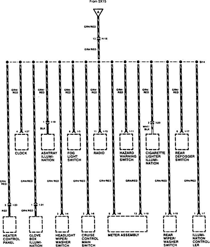 Acura Slx  1996  - Wiring Diagrams