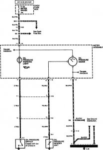 Acura SLX - wiring diagram - oil warning