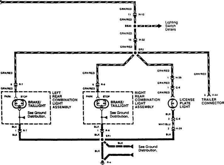 Acura Slx 1996 Wiring Diagrams Parking Lamp