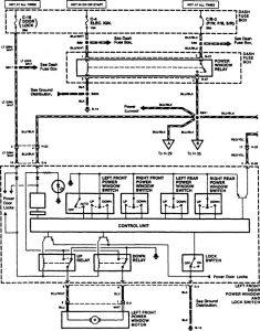 Acura SLX - wiring diagram - power windows (part 1)