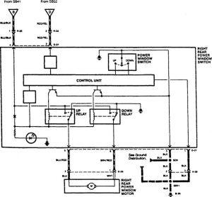 Acura SLX - wiring diagram - power windows (part 4)