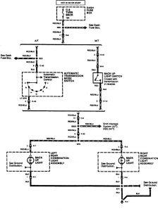 Acura SLX - wiring diagram - reverse lamp