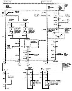 Acura SLX - wiring diagram - shift interlock