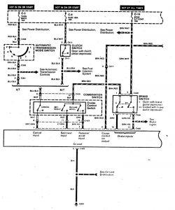 Acura SLX - wiring diagram - speed control (part 1)